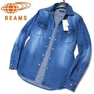 ビームス(BEAMS)の新品 L ビームス BEAMS ビンテージ加工 ジョグデニム ウエスタンシャツ(シャツ)