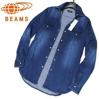 ビームス(BEAMS)の新品 M ビームス BEAMS ビンテージ加工 ジョグデニム ウエスタンシャツ(シャツ)