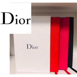 ディオール(Dior)のギフトセット Dior  ノート3個セット 箱付き 未使用 正規品 (ノート/メモ帳/ふせん)