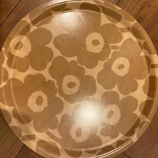 マリメッコ(marimekko)の新品 マリメッコ トレイ 木目 ベージュ 2セット(テーブル用品)