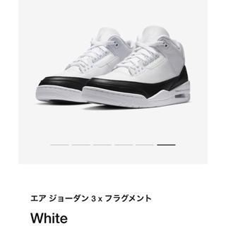 NIKE - FRAGMENT × NIKE AIR JORDAN3 26.5cm