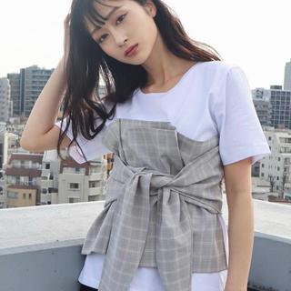 エモダ(EMODA)の【EMODA】ビスチェドッキングTシャツ(Tシャツ(半袖/袖なし))