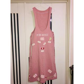 ピンクハウス(PINK HOUSE)のピンクハウス❤️ワッペンが可愛いジャンパースカート(ロングスカート)