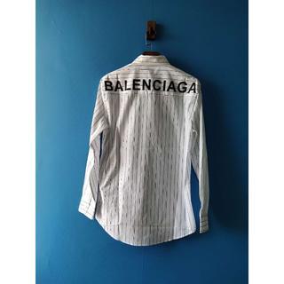 バレンシアガ(Balenciaga)のバレンシアガメンズコットンポプリンシャツ☆バックロゴ(シャツ)
