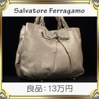 サルヴァトーレフェラガモ(Salvatore Ferragamo)の【真贋査定済・送料無料】フェラガモのハンドバッグ・良品・本物・ヴァラ・リボン(ハンドバッグ)