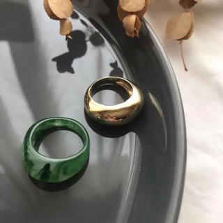 アダムエロぺ(Adam et Rope')のbipartite ring-green-(リング(指輪))