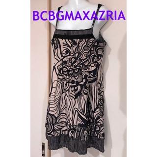 ビーシービージーマックスアズリア(BCBGMAXAZRIA)のBCBGMAXAZRIA  ボタニカル柄 キャミソールワンピ チュニック(ひざ丈ワンピース)