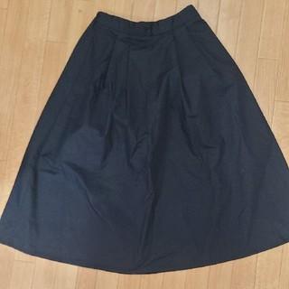ジーユー(GU)のGU 黒スカート(ひざ丈スカート)
