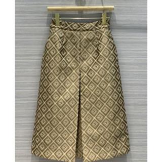 グッチ(Gucci)の2020FW GUCCI GGロゴ 膝丈スカート 34(ひざ丈スカート)