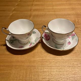ロイヤルアルバート(ROYAL ALBERT)の【新品 未使用】 ロイヤルアルバート コーヒーカップ 2個セット(グラス/カップ)