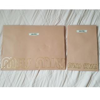 ミュウミュウ(miumiu)のmiu miu 紙袋 ショップ袋(ショップ袋)