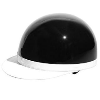 ★半ヘル★ バイク 半ヘルメット かっこいい ブラック 他カラー有(ヘルメット/シールド)