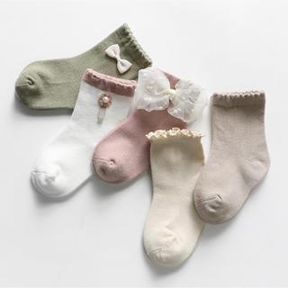 プティマイン(petit main)の韓国子供服 ソックス 5足セット(靴下/タイツ)