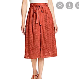 リリーブラウン(Lily Brown)のデザイン スウェードスカート(ひざ丈スカート)