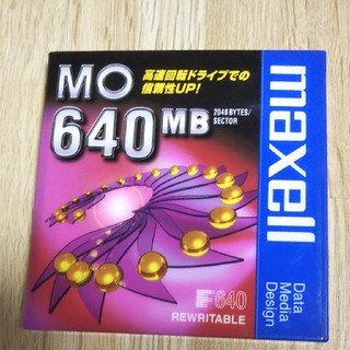 MOディスク 640MB maxell