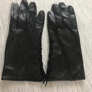 ロベルタディカメリーノ(ROBERTA DI CAMERINO)の革ロベルタディカメリーノ レザー 手袋  グローブ レディース  編み上げ(手袋)