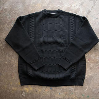 ワンエルディーケーセレクト(1LDK SELECT)のYASHIKI Tsurara Knit ブラック サイズ3(ニット/セーター)