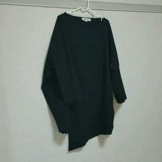 エンフォルド(ENFOLD)のENFOLD ブラックトップス(カットソー(長袖/七分))