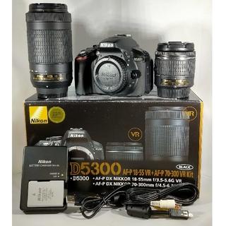 Nikon - 【保証1年・付属品充実】 Nikon D5300 AF-P ダブルズームキット