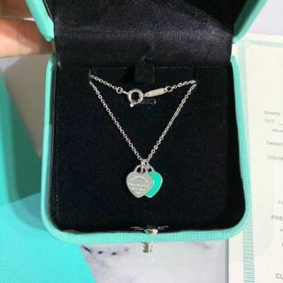 ティファニー(Tiffany & Co.)のTIFFANY&Co. ダブルハートネックレス(ネックレス)