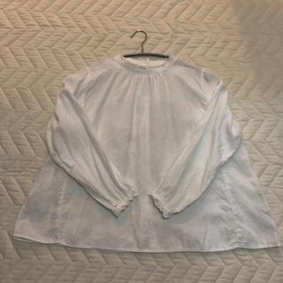 ネストローブ(nest Robe)のnest robe/ スタンドフリル ブラウス white(シャツ/ブラウス(長袖/七分))