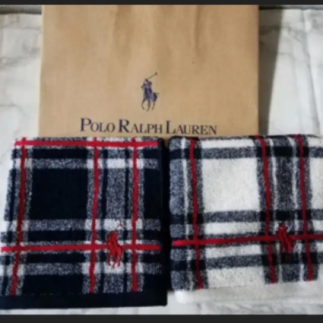 Ralph Lauren(ラルフローレン)の新品 ラルフローレン  タオルハンカチ レディースのファッション小物(ハンカチ)の商品写真
