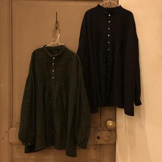 ネストローブ(nest Robe)のnest robe/ リネンタックネックブラウス(シャツ/ブラウス(長袖/七分))