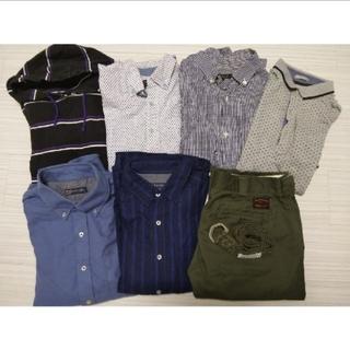 ビームス(BEAMS)のメンズ シャツ 半袖 長袖 カーキパンツ セット(シャツ)