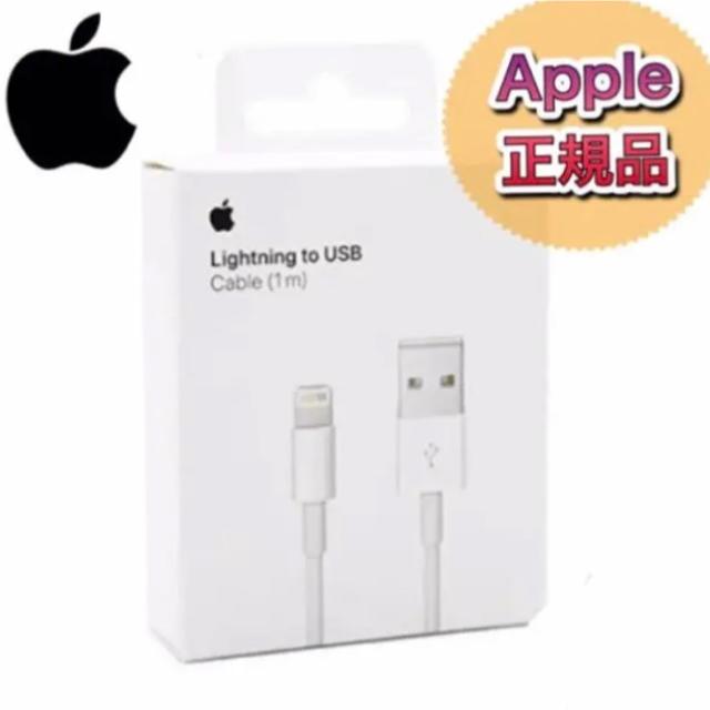 Apple(アップル)の※箱なし 1本 iPhone 充電器 ライトニングケーブル1m スマホ/家電/カメラのスマートフォン/携帯電話(バッテリー/充電器)の商品写真