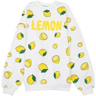 PUNYUS レモン フード総柄スウェット