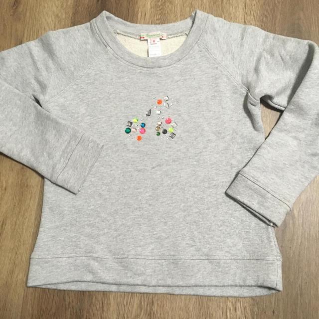 Bonpoint(ボンポワン)のボンポワン⭐︎ビジュースウェット 8 キッズ/ベビー/マタニティのキッズ服女の子用(90cm~)(Tシャツ/カットソー)の商品写真