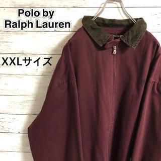 POLO RALPH LAUREN - 【激レア】ポロラルフローレン☆刺繍ロゴ 襟切替コーデュロイ スウィングトップ