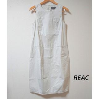 レアック(REAC)のタグ付き新品! ノースリーブワンピース 18,700円(ひざ丈ワンピース)