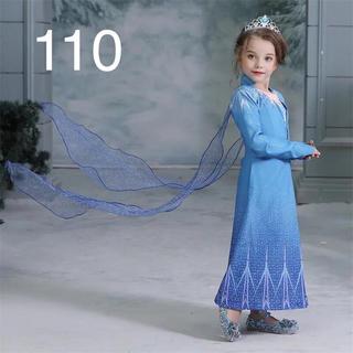 アナと雪の女王 - 【新品】アナ雪2 エルサ ドレス インナーセット 110