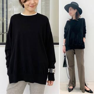 L'Appartement DEUXIEME CLASSE - L'Appartement  side slit knit  ブラック