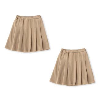petit main - b・ROOM(ビールーム) ベーシックタックプリーツスカート ベージュ100cm