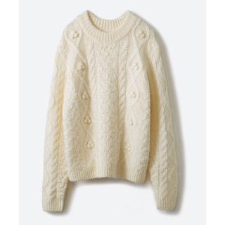 ハコ(haco!)の古着屋さんで見つけたようなもっふり編みセーター ケーブル編みニット(ニット/セーター)