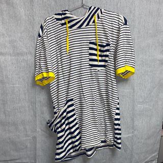 フラボア(FRAPBOIS)のフード付きボーダーTシャツ FRAPBOIS(Tシャツ/カットソー(半袖/袖なし))