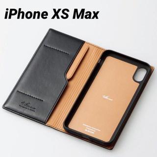 エレコム(ELECOM)のiPhoneXS Max ケース 手帳型 ブラック イタリアンソフトレザーカバー(iPhoneケース)