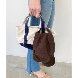 L'Appartement DEUXIEME CLASSE - L.L.Bean Canvas tote bag mini  ネイビー