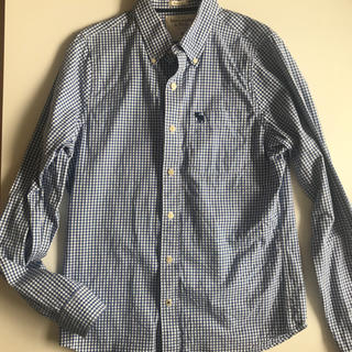 Abercrombie&Fitch - アバクロほぼ新品*ブルーチェックシャツ