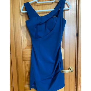 ローブドフルール グロッシー ワンカラー  キャバ ドレス ブルー グリーン
