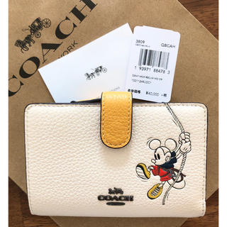 COACH - 【DISNEY X COACH☆日本限定】訳あり新品 ミッキーマウス 折り財布