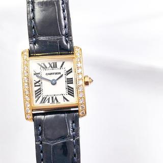 Cartier - 【保証書付】カルティエ フランセーズ K18 金無垢 ダイヤ レディース 時計