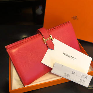 Hermes - ♡正規品♡ ✨美品✨HERMES べアン スフレ 長財布 エルメス2017年