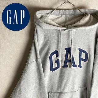ギャップ(GAP)の【美品 GAP パーカー 長袖 ビッグロゴ ダボ感 ストリート 古着 レア】(パーカー)