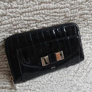 クロエ(Chloe)の【正規品】美品 レア クロエ リリィ エナメル パテント リボン 財布(財布)