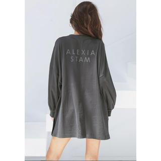 アリシアスタン(ALEXIA STAM)のBack Separated Logo Long Sleeve Tee(Tシャツ/カットソー(七分/長袖))