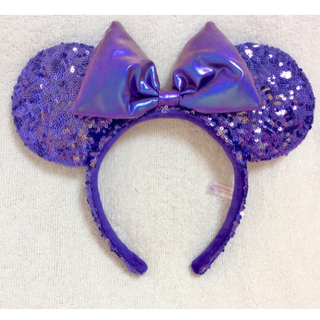 Disney - ディズニーカチューシャ ミニー スパンコール 紫