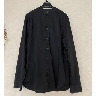 エイチアンドエム(H&M)のH&M メンズ黒スタンドカラーシャツ(シャツ)